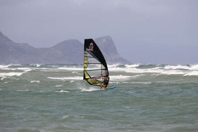 Kurosh Kiani windsurfing on Maui Hawaii