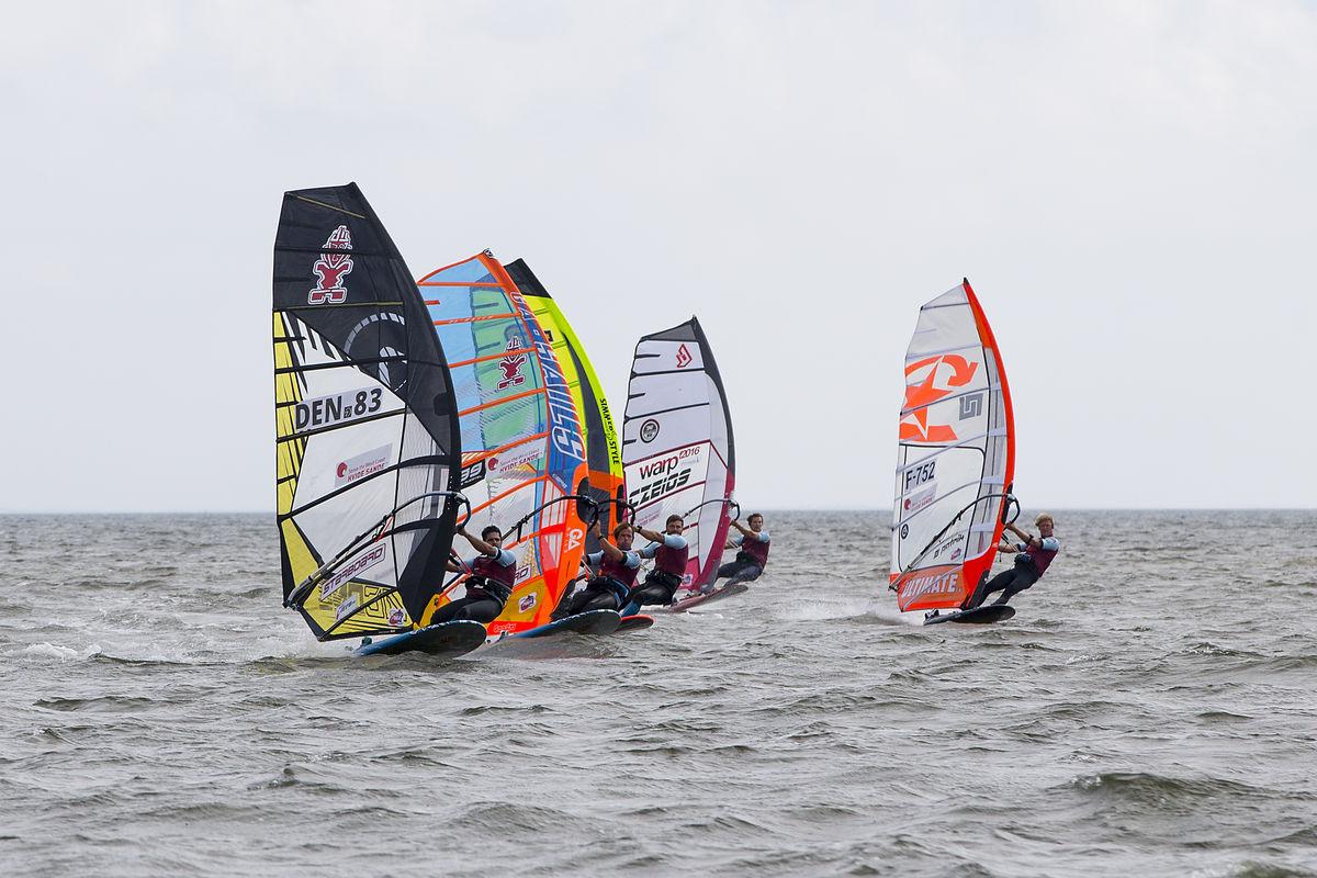 Kurosh Kiani windsurfing at world cup in Denmark