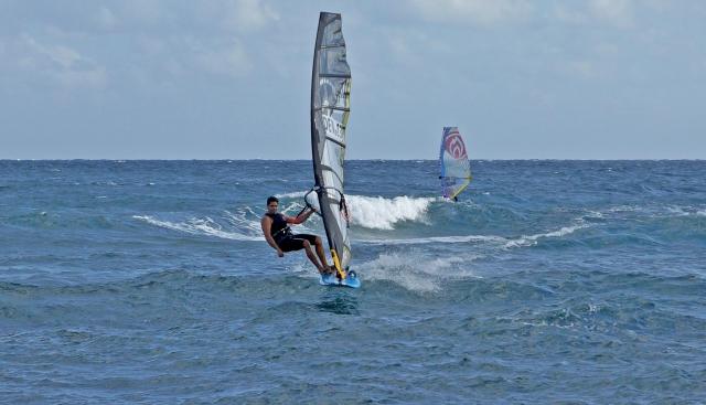 Kurosh Kiani windsurfing